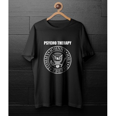 PSYCHO THERAPY - Black t-shirt
